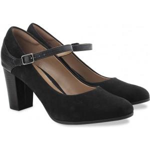 Clarks Bavette Cathy Black Combi Sde Slip On shoes