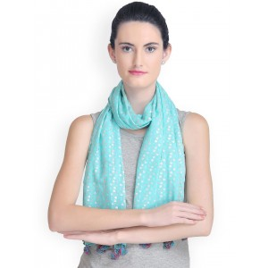 CoolThreads Teal Blue Printed Stole