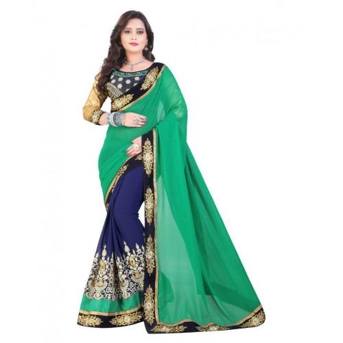 d1e810fae Buy SareeShop Designer SareeS Multicoloured Georgette Saree online ...