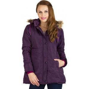 ASST Purple Polyester Full Sleeve Solid Bomber Jacket