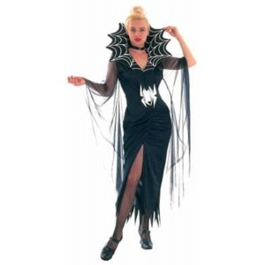 FancyDressWale Black Spider Web Halloween Dress Costume
