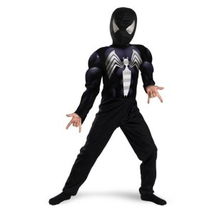 Morris Costumes Spiderman Black Printed Costume