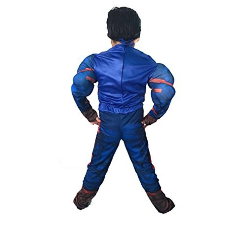 FancyDressWale Blue Captain America Costume With Plastic Mask