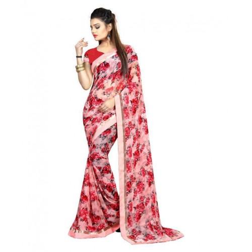 385a5c686b Gazal Fashions Pink Chiffon Saree; Gazal Fashions Pink Chiffon Saree ...