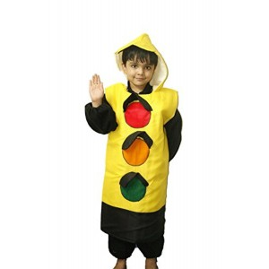 FancyDressWale Yellow Traffic Signal Costume