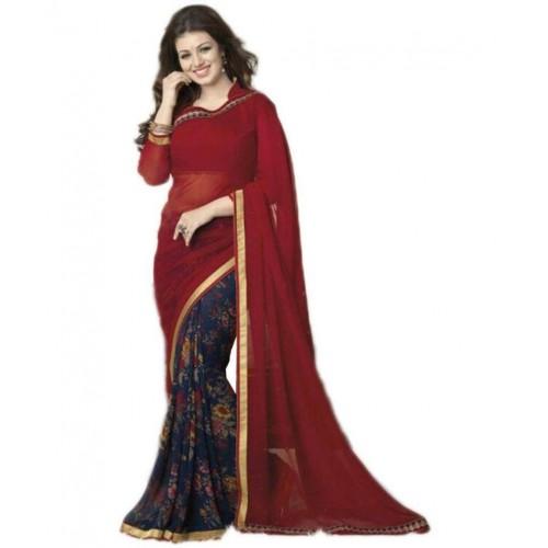 9d6c9b846a Buy Gazal Fashions Multicoloured Chiffon Saree online | Looksgud.in