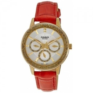 Casio White Enticer Analog Dial Women's Watch - LTP-2087GL-4AVDF (A910)