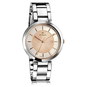 Titan Neo-Ii Analog Rose Gold Dial Women's Watch-2480KM01