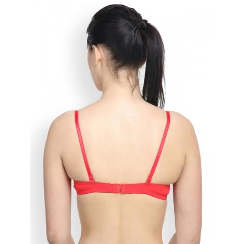 PrettyCat Women's Push-up Red Bra