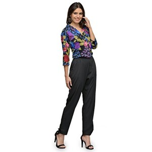 The Gud Look The Gud Look Polyester Mix & Match Multi Rose Print Jumpsuit - Multi