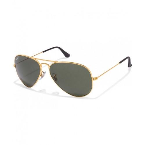 329ae36680 ... Ray-Ban Green Polarized Aviator Sunglasses (RB3025 001 58 58-14) ...