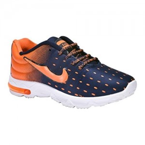 AIRCUM Orange & Blue Sports Shoes for men