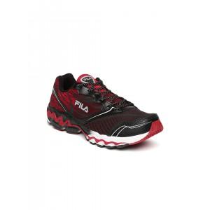 FILA Men Black & Red Arterial Training Shoes