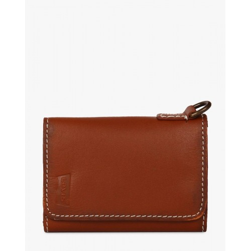 Buy Levis Brown Leather TriFold Card Holder Online  LooksgudIn