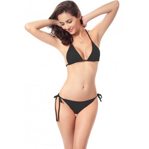 JKFs Triangle Cup Bikini Solid Women's Swimsuit