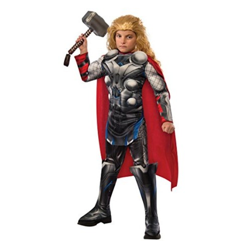 Rubie's Costume Co Black Polyester Printed Avengers Thor Costume