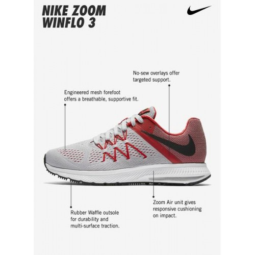 Nike Zoom Winflo 3 Grey Running Shoes