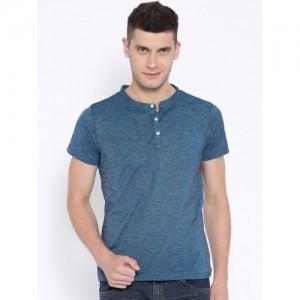 American Crew Teal Blue Henley T-shirt
