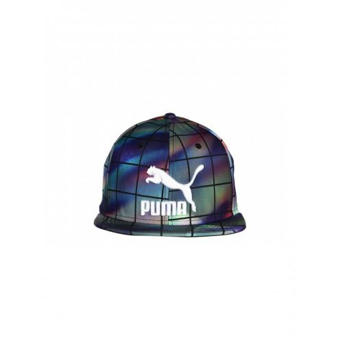 26a1347cff4 Buy Puma Unisex Multicoloured Checked LS ColourBlock SnapBack Cap ...