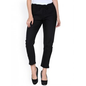 Buy Missa More Tan Cotton Ankle Length Tie Up Trousers Online | Looksgud.in