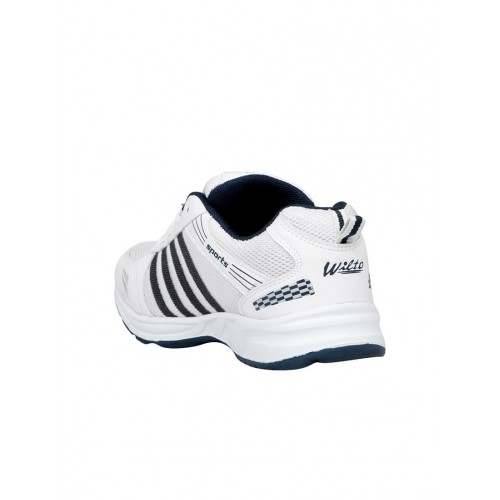 Asian WNDR-13 White Mesh Lace Up Running Shoes