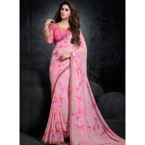 Shaily Pink Printed Saree