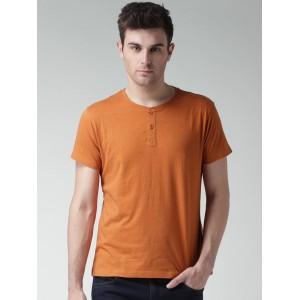 Mast & Harbour Orange Henley T-shirt