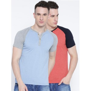Fort Collins Pack of 2 Henley T-shirts