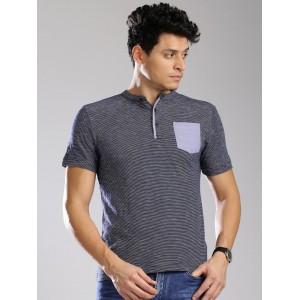 Tommy Hilfiger Navy Henley T-shirt