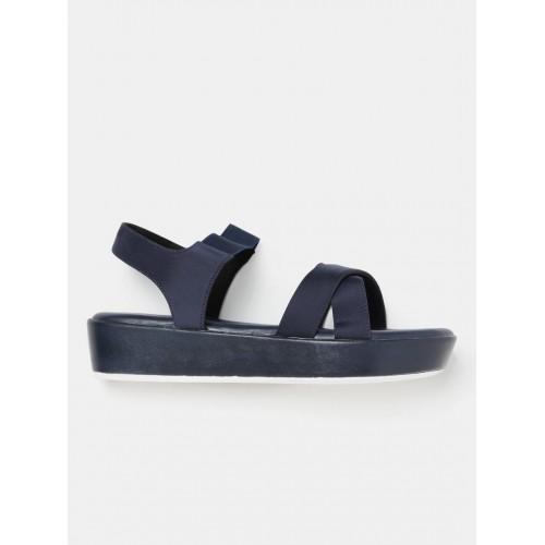 Buy DressBerry Navy Blue Leather Solid