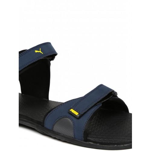b4ec608a23d3 Buy Puma Men Navy   Charcoal Grey Relay IDP Sports Sandals online ...