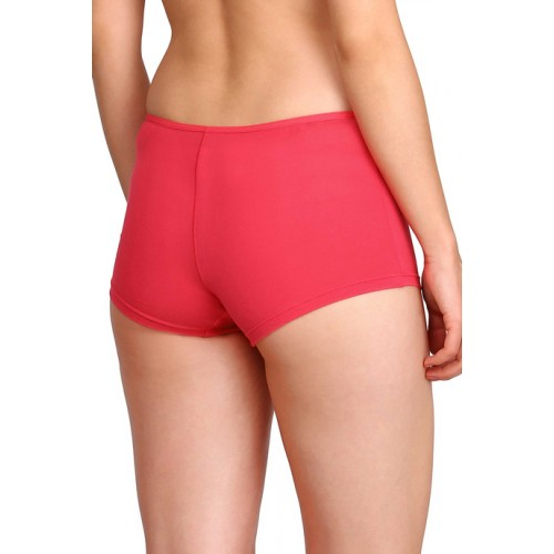 Jockey Red Cotton Solid Boyshort Panty