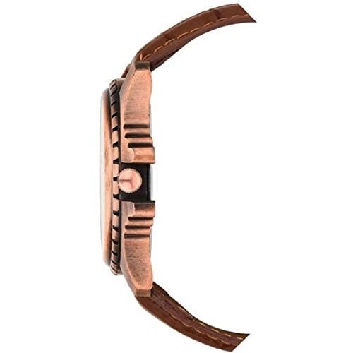 Britex BT3106 Brown Leather ChronoGraph Pattern Analog Watch