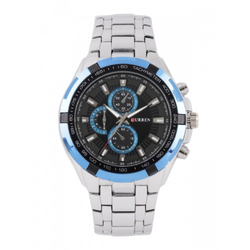 Curren Men Black Chronograph Watch CUR25