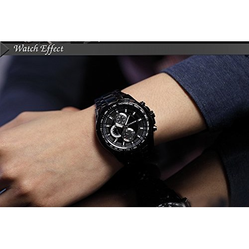 CURREN Black Stainless Steel Business Casual Watch