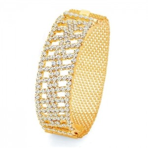 Sukkhi Designer Gold Plated AD Kada Bracelet