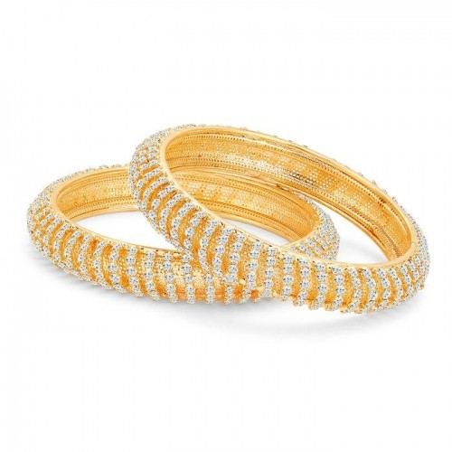 Sukkhi Incredible Gold Plated AD Bangles For Women