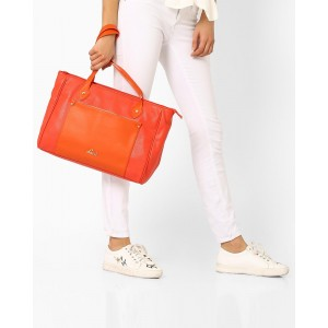 Lavie Colourblock Textured Hobo Bag