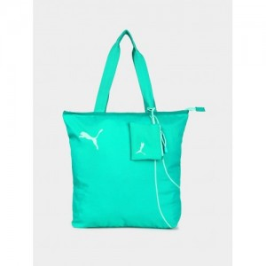 Puma Sea Green Polyester Tote Bag