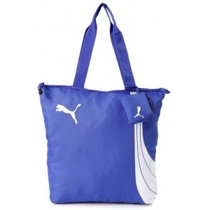 Puma Solid Blue Zip Casual Tote