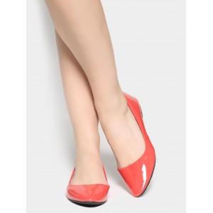 abof Women Coral Red Ballerinas