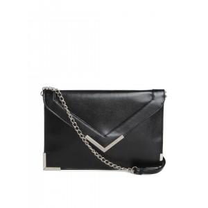 ToniQ Black Textured Envelope Clutch