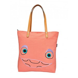 YOLO pink canvas tote