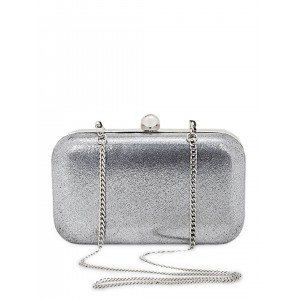 Berrypeckers Silver-Toned Box Clutch