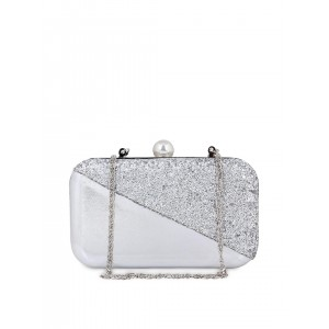 Berrypeckers Silver-Toned Shimmery Clutch