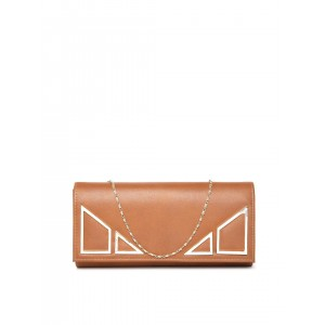 Mast & Harbour Brown Clutch with Chain Strap