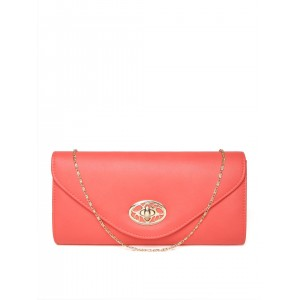 Mast & Harbour Coral Red Clutch with Chain Strap