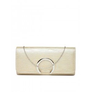 Paprika by Lifestyle Muted Gold-Toned Shimmery Clutch
