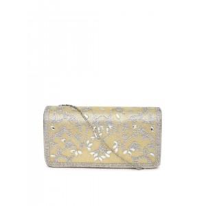 DressBerry Gold-Toned Embellished Clutch