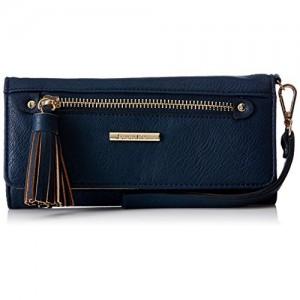 Diana Korr Women Blue Artificial Leather Wallet